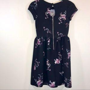 Xhilaration Dresses - Xhilaration Beaded Floral Skater Dress - #1009